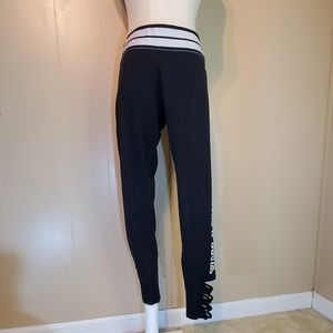 Pink Victoria's Secret Black & White Leggings